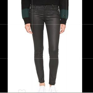DL1961 Florence Black Coated Skinny Jeans 26